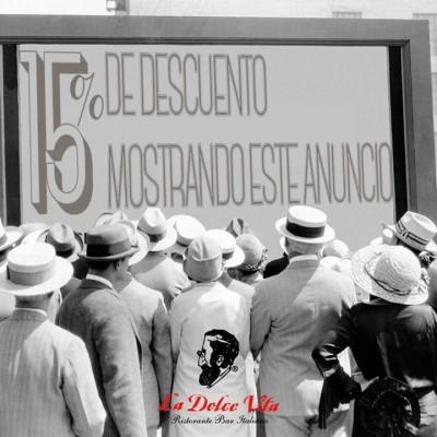 La Dolce Vita Ristorante Italiano - Promocion Descuento Octubre 2014