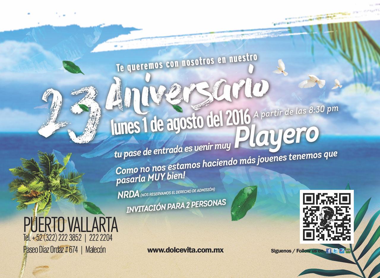 Dolce Vita Centro Malecon 23 Aniversario Back